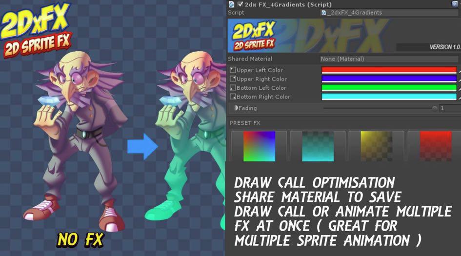 4 Gradients - 2DxFX 2 x for Unity 5 x - Documentation (c