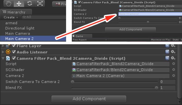 Blend 2 Camera Blend - Camera Filter Pack 3 x for Unity 5 x